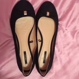 Black suede forever 21 flats size 10